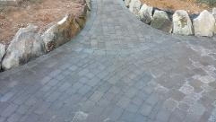 brick paver patio walkway decorative design belgard knoxville maryville